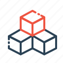 box, boxes, cube, cubic, inspiration, rubik, three icon