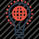 bulb, idea, imagination, innovation, lamp, light, world