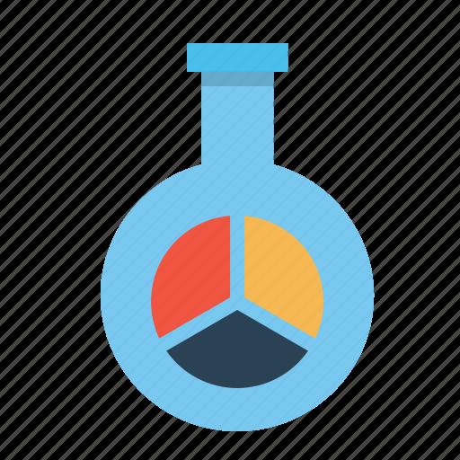 chart, glass, market, report, research, statics, tube icon