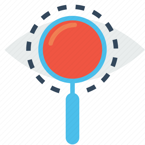 eye, glass, magnifier, mission, search, view, vision icon