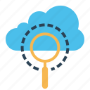 cloud, data, optimization, search, seo, server, web icon