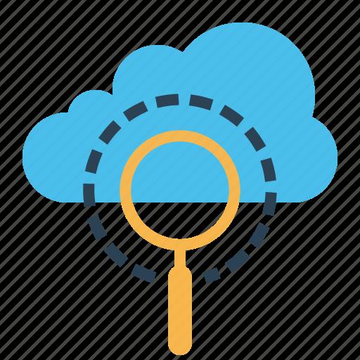 cloud, data, optimization, search, seo, server, web icon