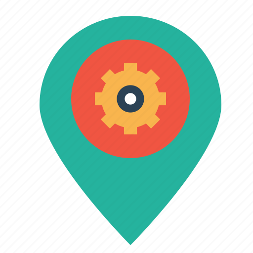 market, optimization, pin, place, preferences, seo, settings icon
