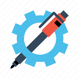 gear, optimization, pen, preferences, seo, settings, web icon