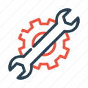 web, settings, wrench, seo, editing, stationary icon