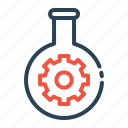 gear, settings, tube, research, glass, seo, preferences icon
