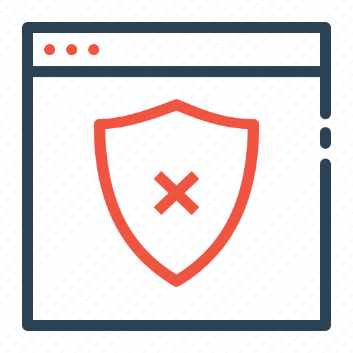access, connection, false, secure, security, shield, website icon