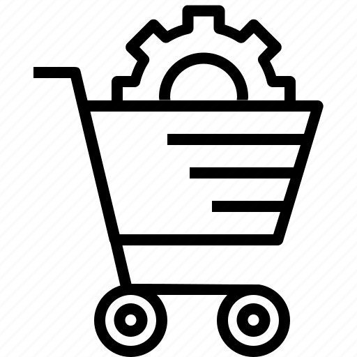 cart, e-commerce, online, services, settings, shopping, solution icon