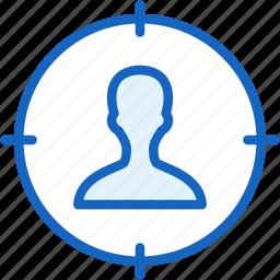 aim, internet, seo, target, user, web icon