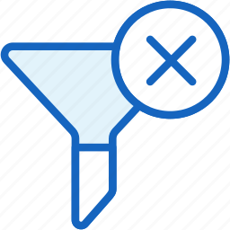 filter, internet, no, seo, web icon
