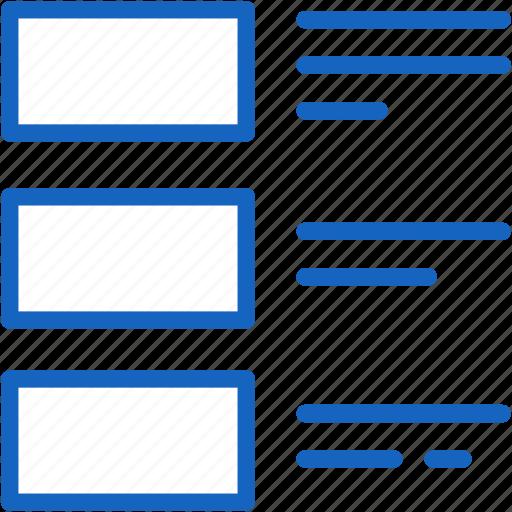 internet, list, seo, web icon