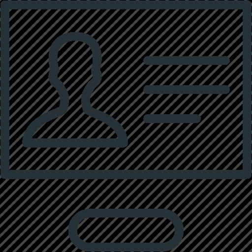 internet, profle, seo, web icon