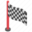 checkered flag, country flag, emblem, flag, racing flag, sports flag