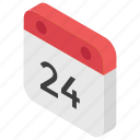 24 date, calendar, date, day, schedule, season icon