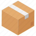 box, logistics delivery, package, sealed cardboard, sealed gift icon