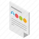 business data, business document, cv, official paper, personal information icon
