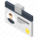 candidate id, employee card, employee id, id card, voter id icon