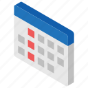 calendar, event organiser, office calendar, wall calendar, yearly calendar icon