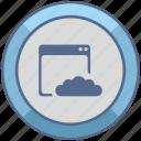 api, cloud, code, program icon