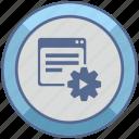 api, gear, play, program, settings, window icon