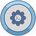 api, code, gear, options, settings icon