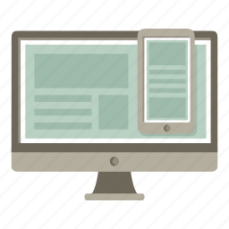adaptive, devices, layout, responsive, template icon