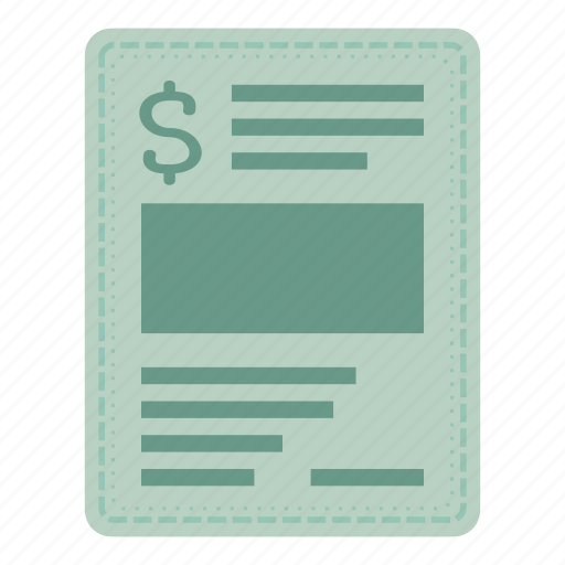 bill, document, invoice, payment icon