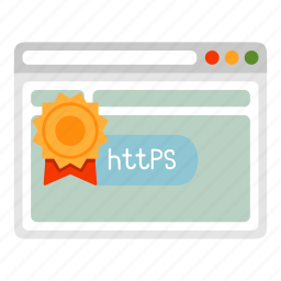 browser, certificate, https, safe, security icon