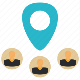 location, marker, pin, user, users icon