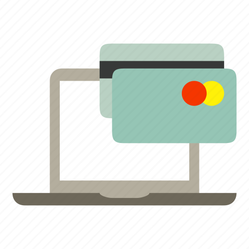 card, credit card, laptop, mastercard, notebook, payment icon