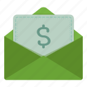 email, finance, invoice, letter icon