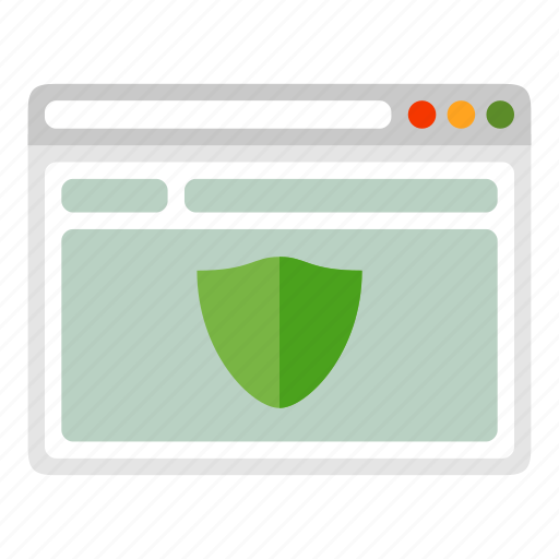 browser, protection, safe, shield, site, website icon
