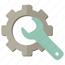 cogwheel, repair, settings, wrench icon
