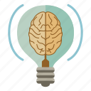 brain, bulb, creativity, idea, productivity icon