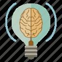 brain, bulb, creativity, idea, productivity