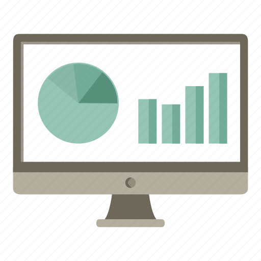 analysis, computer, monitor, report, statistics icon