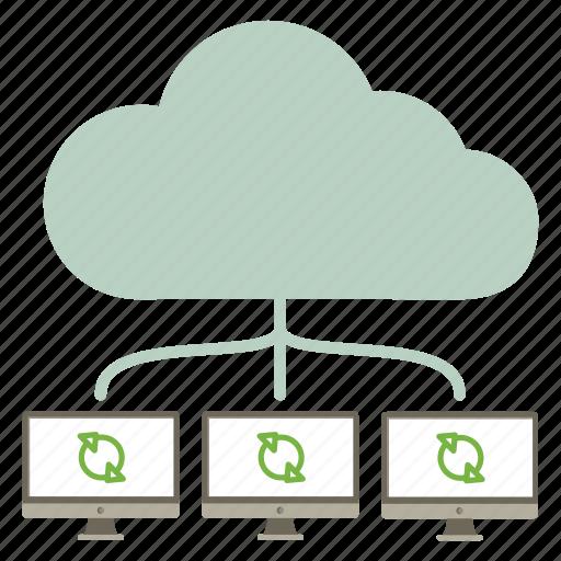 cloud, interntet, lan, local network, patch, update, upgrade icon