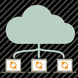 cloud, icloud, internet, synchronization, update icon