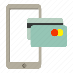 card, mastercard, mobile, payment, phone icon