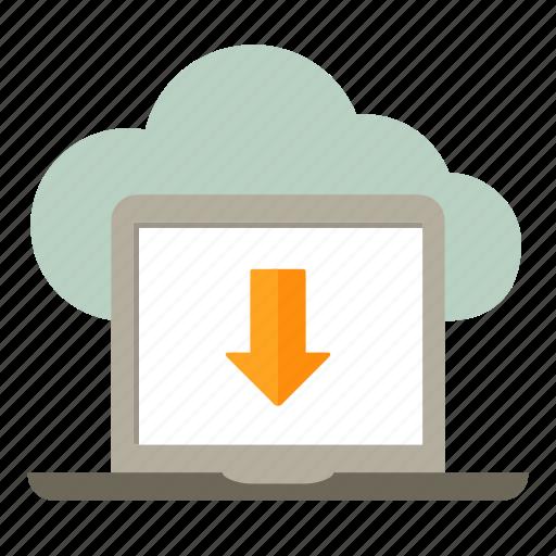 arrow, arrow down, download, loading, upload icon