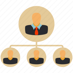 boss, business, contacts, friends, hierarchy, people icon