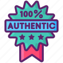 authentic, certification, seal icon
