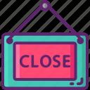 closed, sign icon