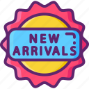 arrivals, new, products icon
