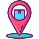 location, package, tracking icon