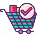 cart, full, ready, stock icon