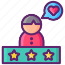 customers, rating, reviews, satisfied, testimonials icon