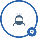 air, face, helicopter, look, transport icon