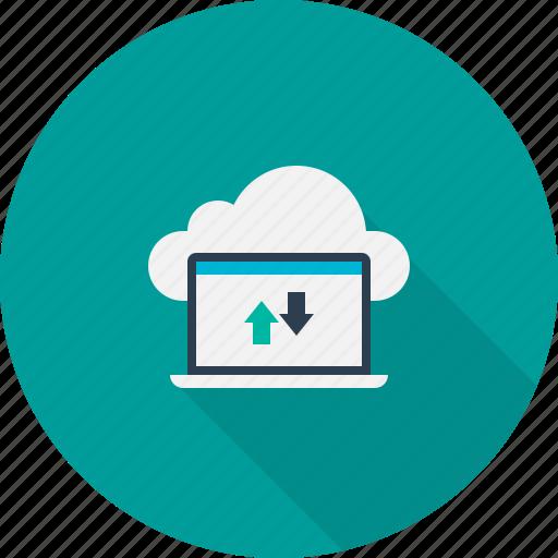 cloud, computing, download, server, upload icon