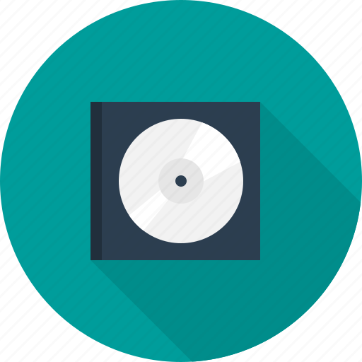 cd, compact, disc, hardware, rom icon
